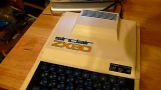 Sinclair ZX80 vintage home computer. Collectors item.