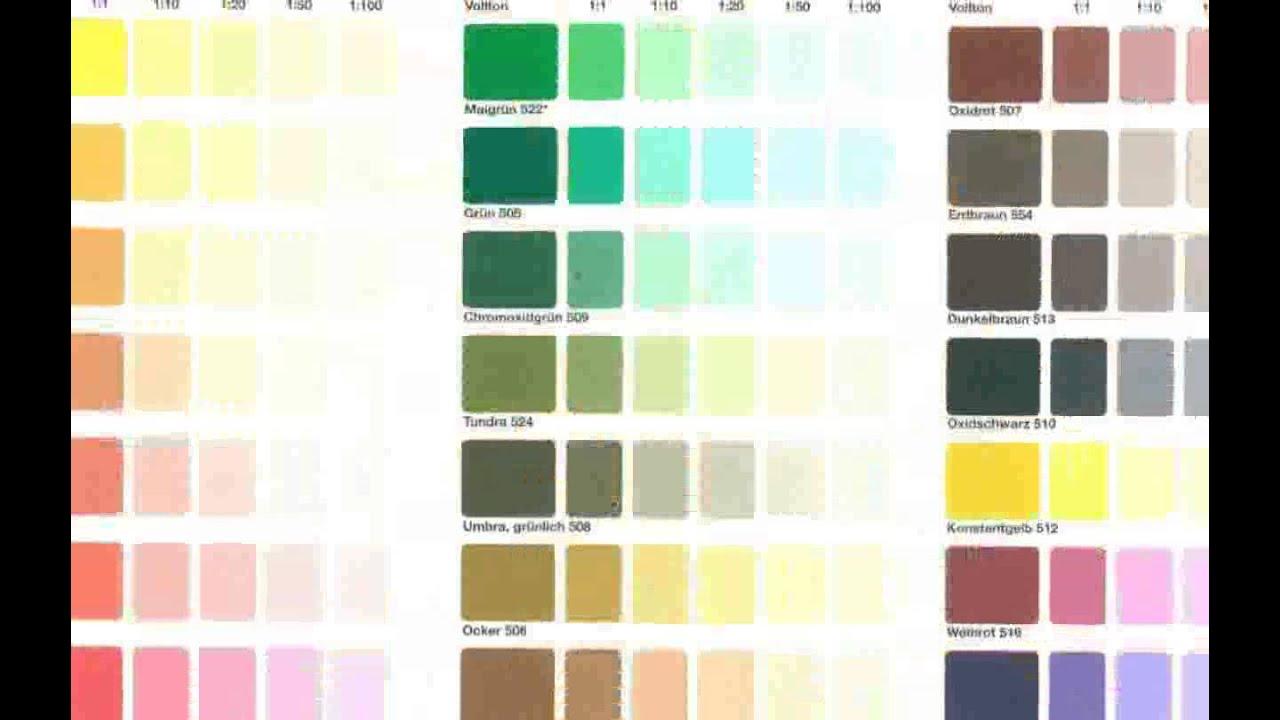 Farbkarten Wandfarbe Neue Youtube