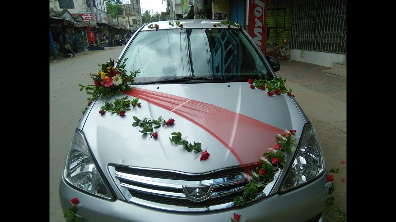 Wedding Car Decoration With Flowers  from i.ytimg.com