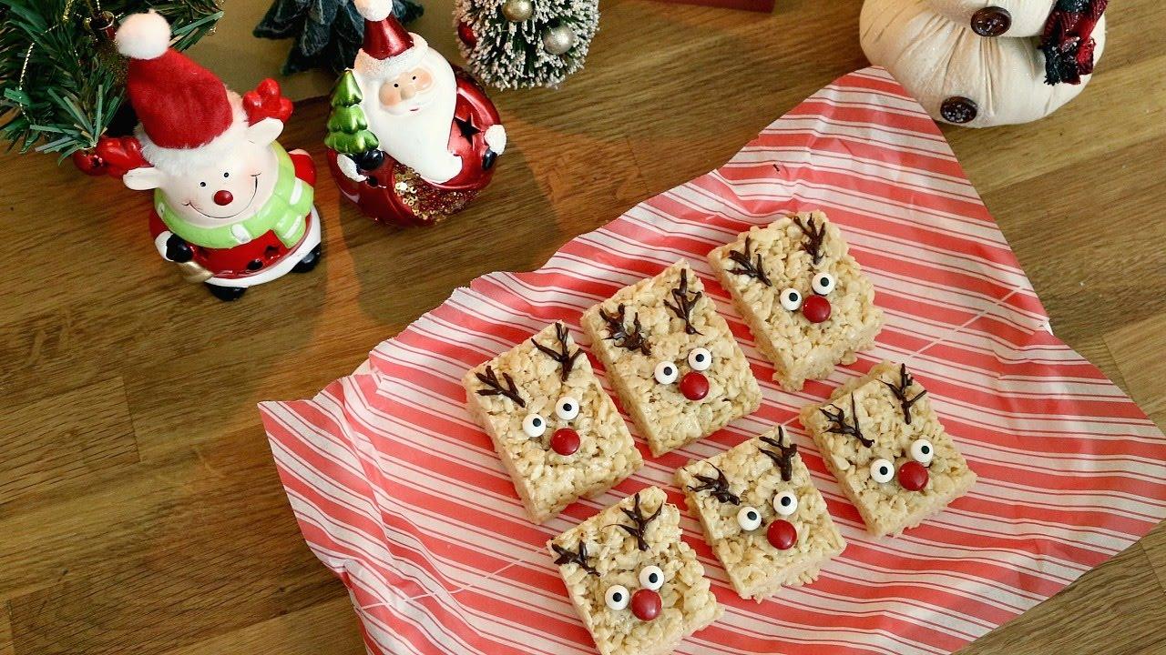 Reindeer Rice Krispie Treats 12 Days Of Xmas Baking Sweetco0kiepie