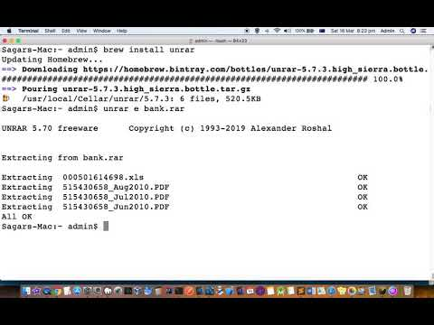 unrar command not found in mac | open or extract rar files in mac