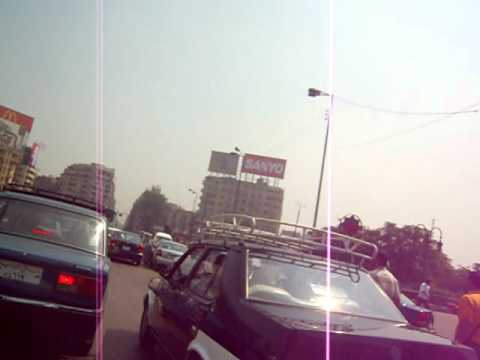Modern Cairo taxi ride