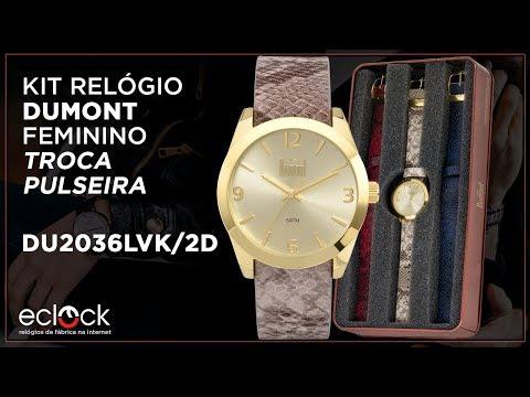 bc9fa0e9ce275 Remix Relógio Dumont Feminino Vip Troca Pulseiras DU2036LVK 2D - Eclock - Eclock  Relógios - vovoclip.com