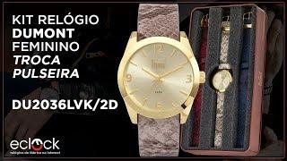 Relógio Dumont Feminino Vip Troca Pulseiras DU2036LVK 2D - Eclock 407813013f