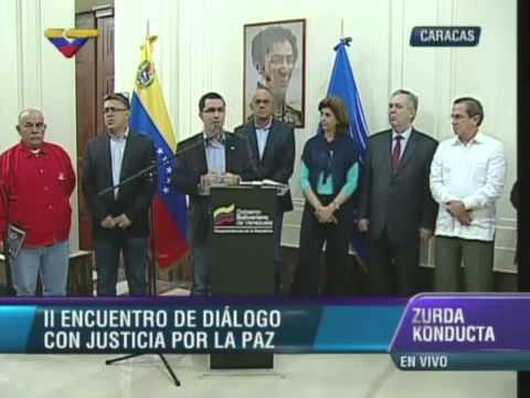 Vicepresidente Jorge Arreaza declara tras mesa de diálogo con la MUD