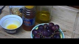 """""""Grape Honey Egg Yolk Oatmeal Olive Oil Moisturizing Cleansing Homemade Face Mask for Normal Skin"""" Thumbnail"""