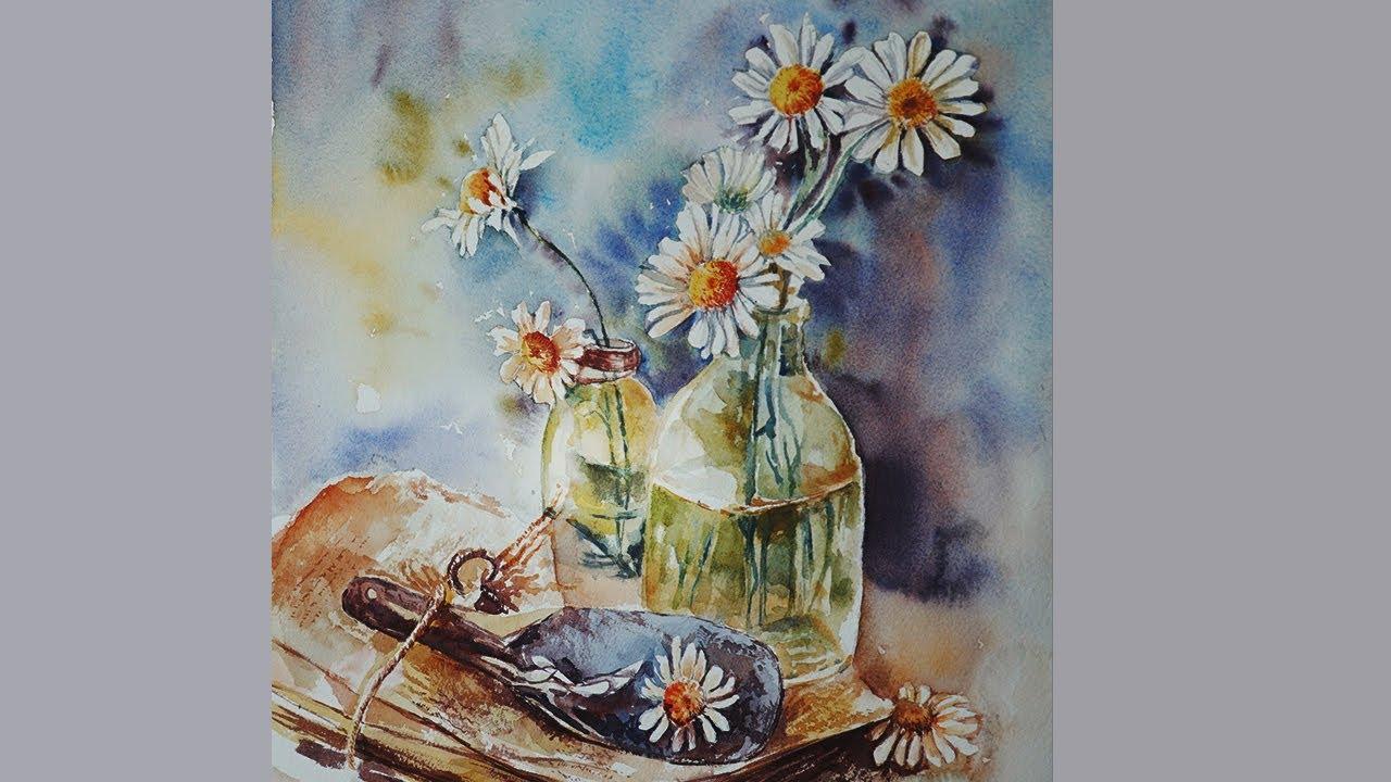 Hướng dẫn vẽ hoa cúc #3 | Watercolor Tana daisy |Tutorial
