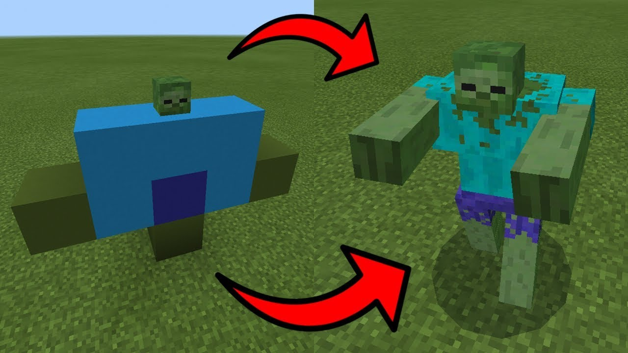 How To Spawn The MUTANT ZOMBIE In Minecraft PE YouTube - Zombey skin fur minecraft pe