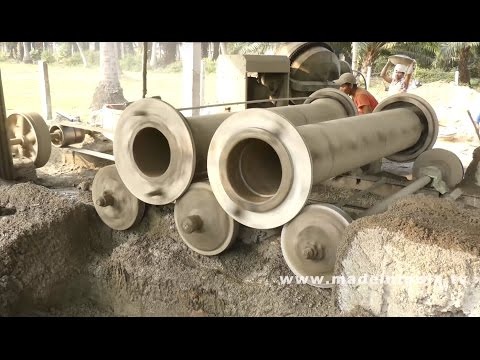Cement Pipes Manufacturing Process | Concrete Pipe Manufacturing