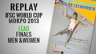 IFSC Climbing World Cup Mokpo 2013 - Lead - Finals - Replay