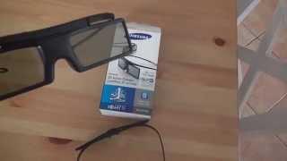 Samsung SSG-P51002/XC 3D-Active-Shutter-Brillen Starterset Shutter Unboxing Test Review