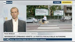 Referendum sull'autonomia: ora parte la trattativa -  Paolo Balduzzi a RaiNews24 thumbnail