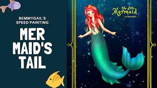 The Little Mermaid A Mermaid's Tail Speed Painting Hans Christian Andersen
