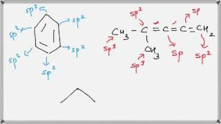 How to find hybridization of Carbon atoms ( Hindi )