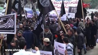 تنظيم داعش في غزة | قام ظهر اليوم تنظيم الدولة الإسلامية داعش بتنظيم مسيرة وسط مدينة غزة