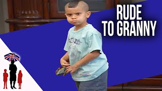 6yr old is Rude To Grandparents While Mom Sends Texts - Hellenbeck Fam Prt 2 Full Ep | Supernanny US