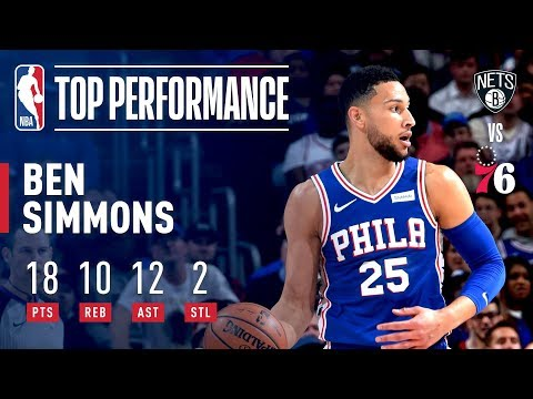 Ben Simmons Notches Game 2 Triple-Double vs Nets