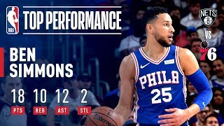 Ben Simmons Joins ELITE Company With 2nd Career Playoff TRIPLE-DOUBLE