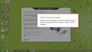 Windows 8 - Utiliser Acer Recovery Management pour restaurer votre système