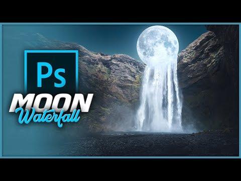 Moon Waterfall Photo Manipulation - Photoshop Tutorial thumbnail