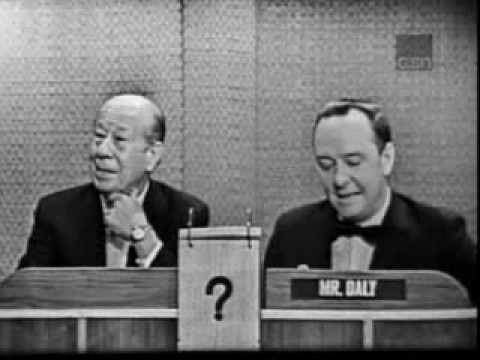 What's My Line?  Bert Lahr 1963, TV