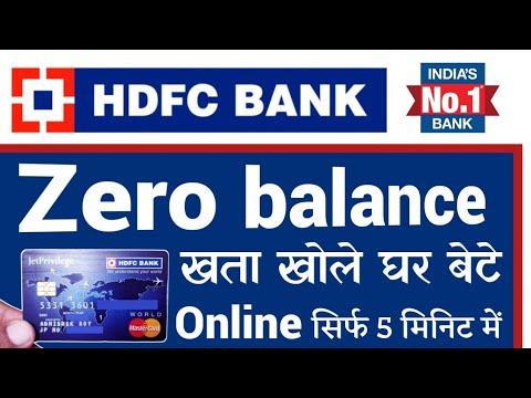 zero balance account hdfc bank online