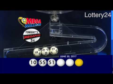 2017 06 30 Mega Millions Numbers and draw results