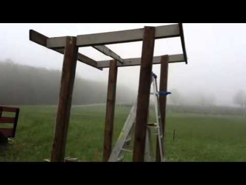 Water collection/ sun shelter part 1