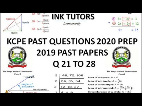 KCPE 2020. KCPE PAST PAPERS 2019 MATHEMATICS.(KCPE MATHS 2019 QUESTIONS AND ANSWERS) KCPE Q 21 ...