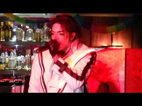 Frederick Henry as Michael Jackson, Elysee Cafe Bar, Thessaloniki, Greece