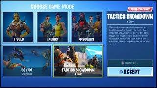 "NEW ""TACTICS SHOWDOWN"" LTM in Fortnite Battle Royale! (NEW ""TACTICS SHOWDOWN"" GAME MODE Coming Soon)"