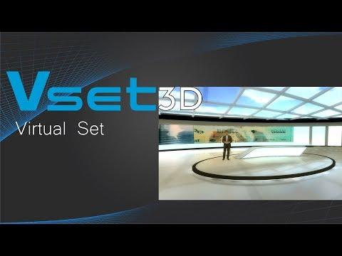 Vset3D live Virtual set | Virtual studio Software