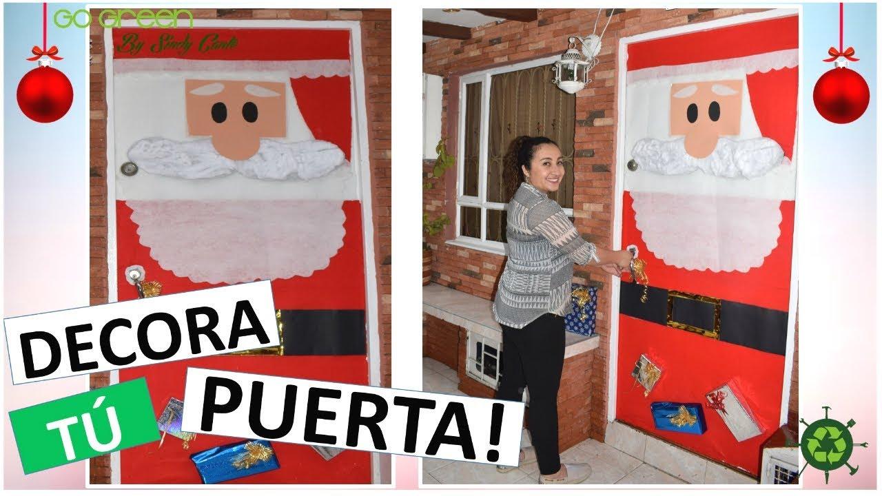 Ideas para navidad como decorar tu puerta para navidad for Puertas decoradas santa claus