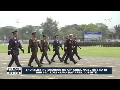 Shortlist ng susunod na AFP Chief, naisumite na ni SND Lorenzana kay Pres. Duterte