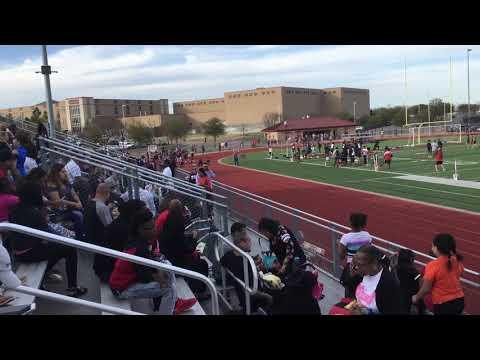 Aliyah 1st 100m dash 3/21/19 Brooks Wester Middle School @Mansfield Legacy High School