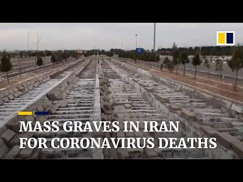 Mass graves in Iran for deceased coronavirus patients