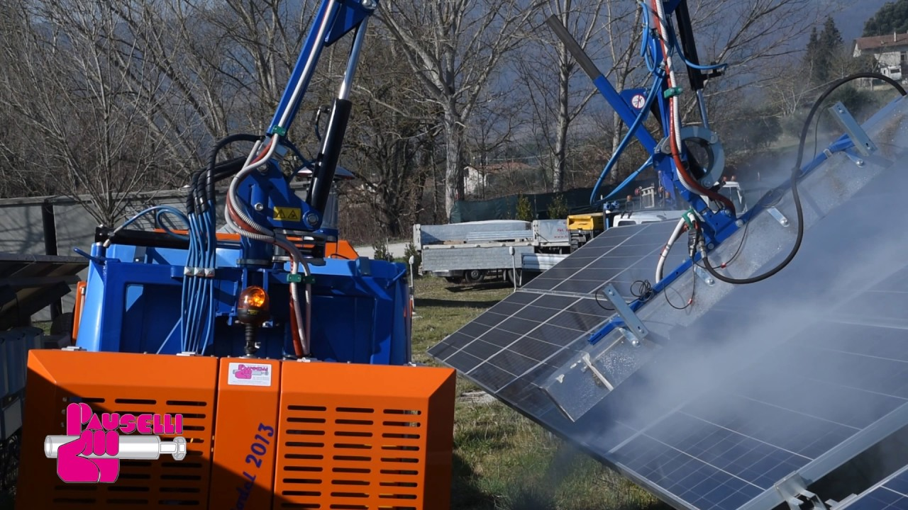 Pauselli Solar Panel Cleaning Machine Youtube