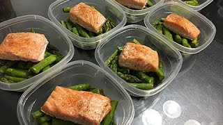 Healthy Salmon & Asparagus | MEAL PREP
