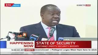 CS Matiangi meets security bosses