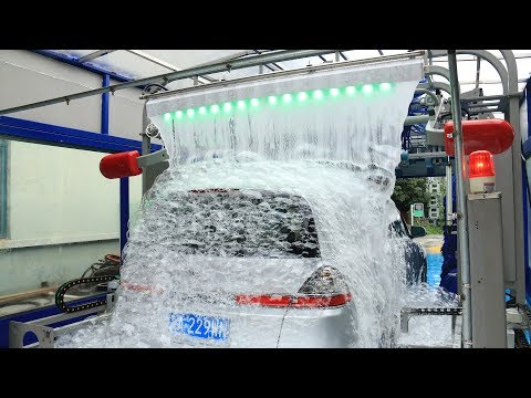 AUTOMATIC CAR WASH TUNNEL MACHINE WITH LAVAFALL MADE BY SHUIFU CHINA