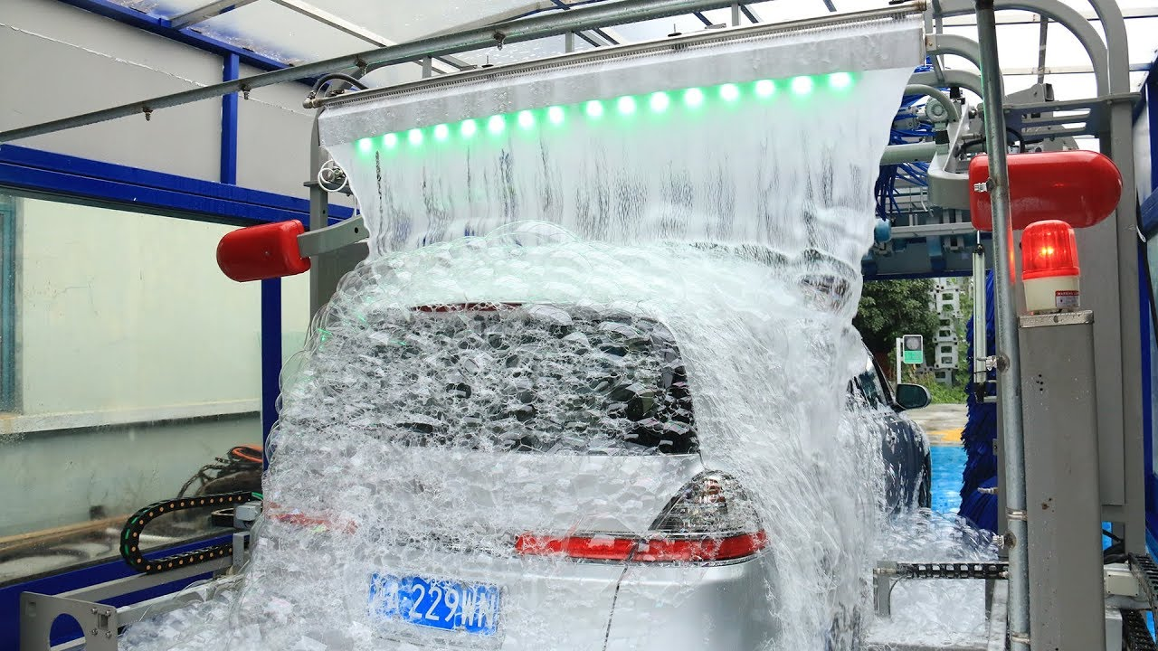 AUTOMATIC CAR WASH TUNNEL MACHINE WITH LAVAFALL MADE BY ...
