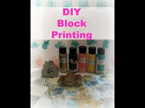 Block Printing with Plaid Fabric Creations/ How to block printing  on Fabric
