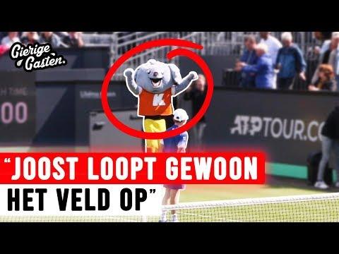 Als mascotte inbreken bij tenniswedstrijd   Gierige Gasten