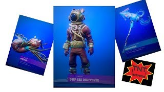 Fortnite game play with the Deep Sea Destroyer skin and Nautilus glider played by TNTextreme