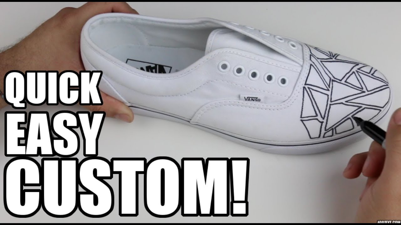 7a5ab0cba5324d DIY CUSTOM SHARPIE VANS! (5 MINUTE CUSTOM) - YouTube