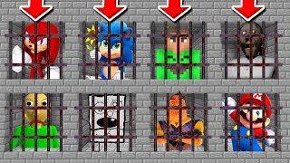 Minecraft PE : DO NOT CHOOSE THE WRONG PRISON! (Jelly, Baby Sonic, Granny & Baldi's Basics)