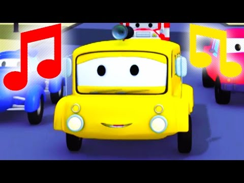 Nursery Rhymes Wheels on the Bus 🎶 Tom the Tow Truck Nursery Rhymes for Children & Cartoon for Kids
