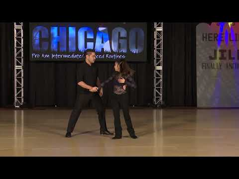 Swing City Chicago 2018 Pro Am Intermediate Advanced Routine Emily Huang with Sheven Kekoolani