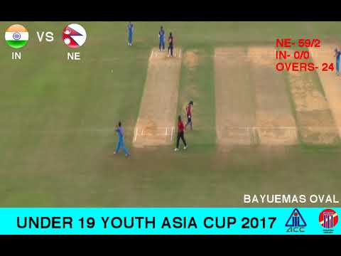 ACC U19 YOUTH ASIA CUP 2017 INDIA vs NEPAL 1st Innings