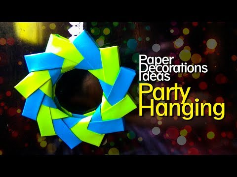 Paper Decorations Ideas - papercraft ideas - Party Hanging making it easy